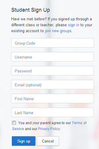 edmodo sign up student2